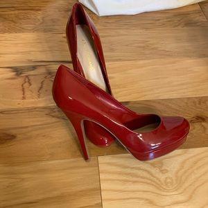 Arturo Chiang red patent stiletto pumps. 9